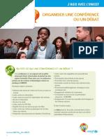 Fiche Initiative Organiser Conference Debat
