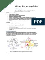 Resumen Fosa cigomática y fosa pterigopalatina
