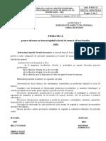TEMATICA  instr. la locul de munca  PSI 2021 LUCRATORI
