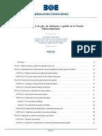 BOE-A-2010-12629-consolidado ordenación y gestión de la Función Pública Valenciana