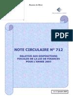 La paie maroc 2003