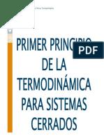 1. 1º principio de la termodinámica para sistemas cerrados