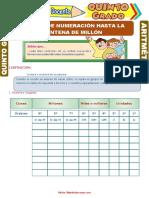 Sistema de Numeración Hasta La Centena Del Millón Para Quinto Grado de Primaria (1)