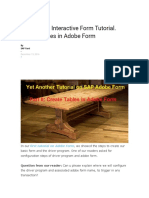 SAP Adobe Interactive Form Tutorial_Part 2