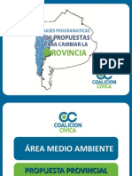 Medio Ambiente 100propuestas.com.ar