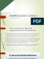 EMBRIOLOGIA CLINICA DISCOS GERM Y DESARROLLO EMBRIONARIO