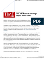 Is a College Degree Worth Less