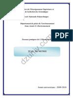 Electrochimie - TP - Compte rendu Tp pH métrie 6609