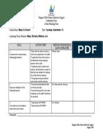 Leadership Team Action Plan (Sample 2)