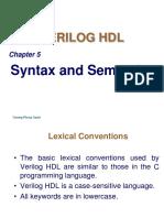 Chapter 5-Verilog HDL Syntax and Semantics