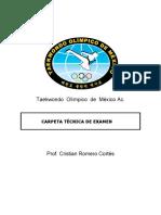 Carpeta Tecnica de Exámenes 2014 taekwondo olimpico-convertido