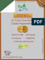 Modèle 4 , Correction Des Examens , Électrcité 1 , Optique Géométrique, Chimie Générale , Algèbre 1 , Analyse 1, Langue , Chtoukaphysique