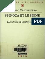 (Bibliothèque d'Histoire de La Philosophie) Lorenzo Vinciguerra - Spinoza Et Le Signe _ La Genèse de l'Imagination-Librairie Philosophique Vrin (2005)