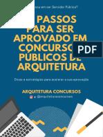 10 PASSOS PARA SER APROVADO EM CONCURSOS DE ARQUITETURA
