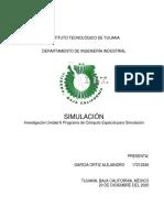 Investigación Unidad 6 Programa de Cómputo Especial Para Simulación