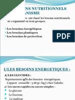 Les Besoins Nutritionnels de l'Organisme Sf (3)