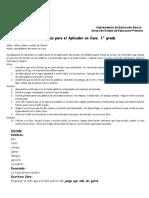 DICTADO 1° grado- precisiones para el APLICADOR EN CASA