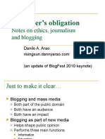 Danny Arao on Blogging and Journalism
