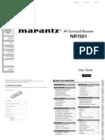 Marantz Nr1501 Manuel d Utilisation