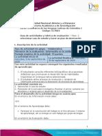 Guía de actividades y Rúbrica de evaluación - Unidad - Paso 2 - Seleccionar caso de estudio y hacer plan de observación