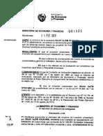 Resolución MEF empresa Alfie