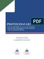 Protocolo para regreso gradual a las clases presenciales RD