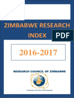 2016 2017 Zimbabwe Research Index