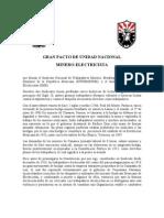 Gran Pacto de Unidad Nacional Minero Vf