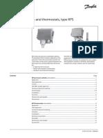 Danfoss Pressure Switches Thermostats Type Kps Data Sheet