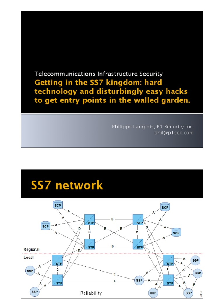 HES2010-planglois-Attacking-SS7 | Port (Computer Networking