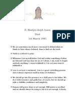 D.Martyn Lloyd Jones - 1st March 1981