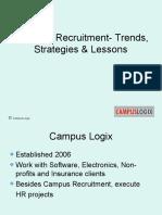 Campus Recruitment-Trends, Strategies & Lessons