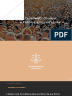 PARLAMENTO, GOVERNO E PUBBLICA AMMINISTRAZIONE