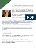 Différence entre business model et business plan