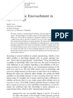 Pragmatic Encroachment in Epistemology