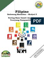 filipino10_q2_mod5_Suring basa Gamit ang Teoryang Pampanitikan