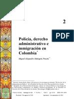 Policía, derecho administrativo e inmigración en Colombia