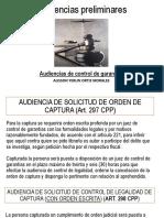Audiencias preliminares CONTROL DE GARANTIAS