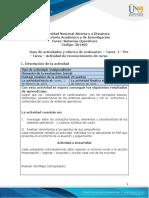 Guia de Actividades y Rúbrica de Evaluación- Unidad 1 - Pre -Tarea Actividad de Reconocimiento