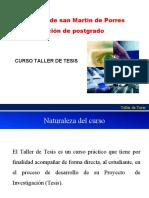 TALLER DE TESIS 2019