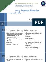 calculo de reserva de minerales