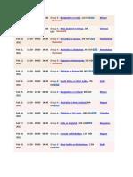 cricket schedule