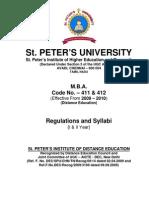 New St.Peter Prospectus
