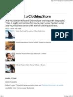 Clothing Store Business Idea - Entrepreneur