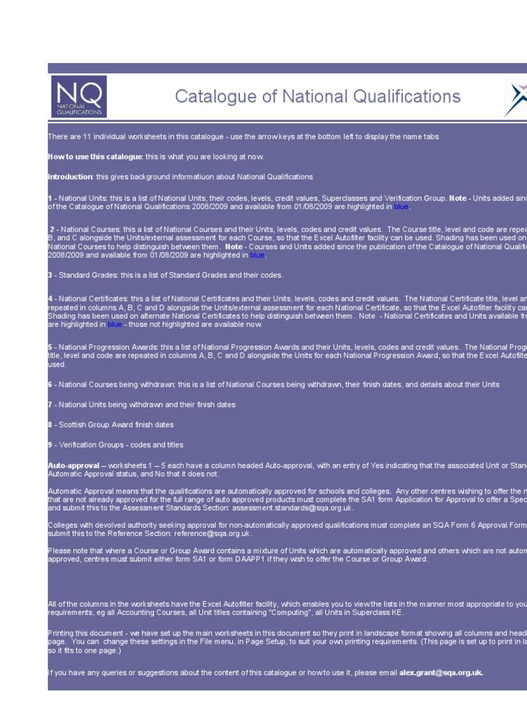 NQ Catalogue