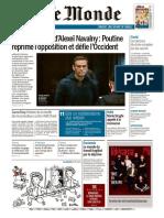 Journal Le Monde du Jeudi 4 Fevrier 2021