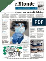 Journal Le Monde du  Vendredi 12 Fevrier 2021
