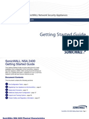 SonicWALL_NSA_2400_Getting_Started_Guide | Ip Address