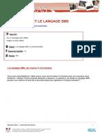 b1 Voyages en Francais Le Langage Des Sms - Fiche Etudiant