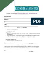 corso per operatore sociosanitario a Venezia, domanda di iscrizione